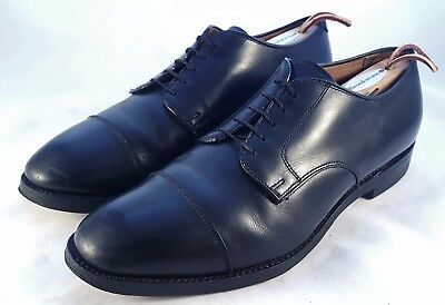 Alden for Brooks Brothers Black Leather Cap Toe Dress Oxfords sz 9.5 D