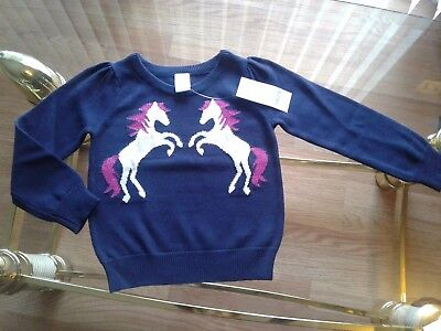 Gymboree Outlet Girl's Horse Sweater XSmall Size 4 NEW