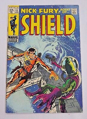 Nick Fury Agent of SHIELD #11 1969 Silver Age Marvel Comics Vintage Comic Book