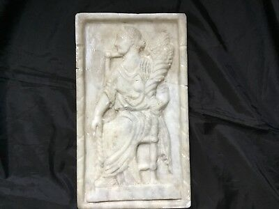 Rare Large Roman Marble Carved Panel Of Faustina Emperors C2nd Cent AD