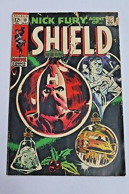 Nick Fury Agent of SHIELD #10 1969 Silver Age Marvel Comics Vintage Comic Book