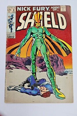 Nick Fury Agent of SHIELD #8 1969 Silver Age Marvel Comics Vintage Comic Book