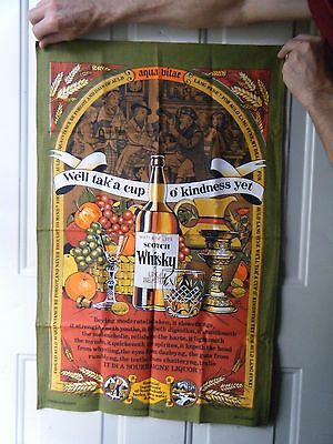 Vintage Scotch Whiskey Dish Towel Tea Towel
