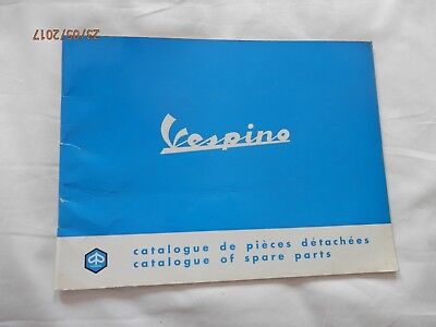 Original 1968 Vespino Moped Spare Parts Catalogue - Vgc - Very Rare !!