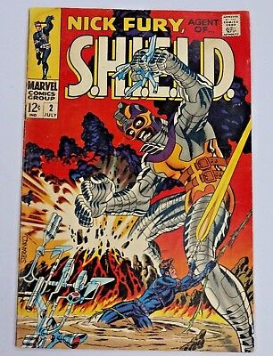 Nick Fury Agent of SHIELD #2 1968 Marvel Comics Silver Age Vintage Comic Book