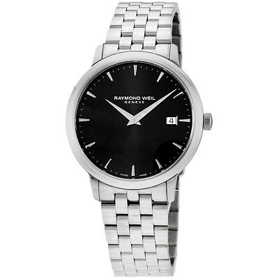 Raymond Weil Toccata Black Dial Stainless Steel Men's Watch 5488ST20001