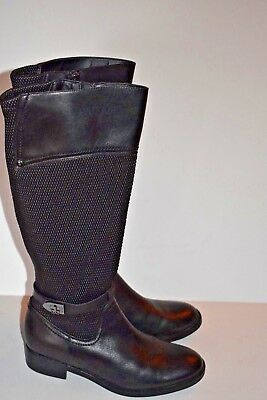 9be1318bcaf Blondo Women s Enya Riding Boot Black Leather 9M Knee High Aquaprotect