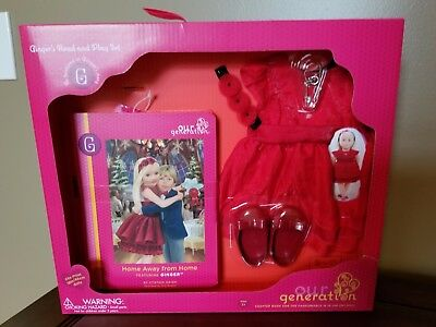Our Generation Ginger's Read And Play Set Doll Clothes -New