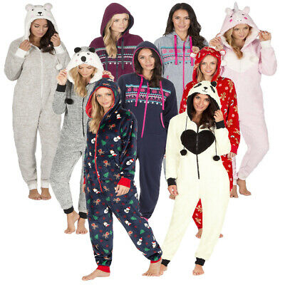 3cd9156f45 Ladies Christmas Onezee Forever dreaming Novelty Fleece Snuggle All In One  Hoody