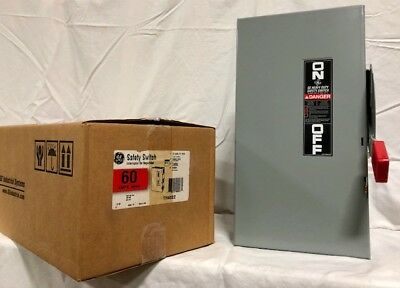 GE TH4322 60 Amp 240V 3W Heavy Duty Fusible Safety Switch