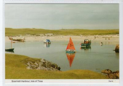 SCARNISH HARBOUR: Isle of Tiree postcard (C31210)