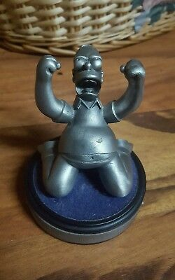 "Rare Pewter HOMER SIMPSON Stautue ""Oh, cruel fate. Why do you mock me?"" 2000"