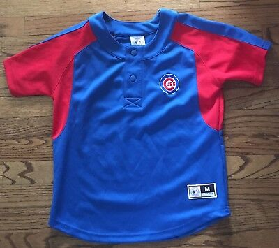 new product 7195f 1c414 Chicago Cubs Pullover Jersey Sewn Youth Medium (8-10)