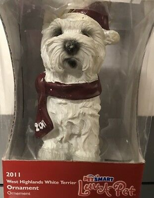 West Highland White Terrier Tree Ornament - 2011 - Petsmart Luv A Pet.