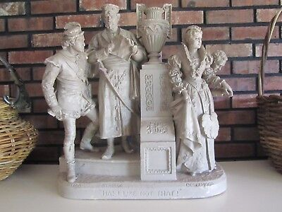 John Rogers Authentic Group Statue Made 1880 137 Yrs Old Shakespere Characters