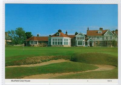 MUIRFIELD CLUB HOUSE: East Lothian postcard (C31254)