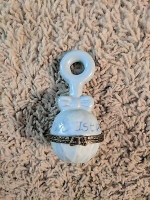 Baby boy Keepsake locket  First Lock of Hair