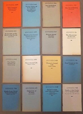 Little Blue Book lot 16 titles SEX & SEXUALITY health love biology morals 1920s