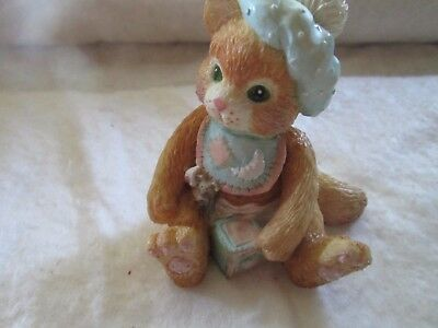"Vintage Enesco Calico Kittens ""A Bundle Of Love"" 1992"