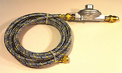 Propane Regulator 10ft Stainless Steel Braided Hose LP Gas Grill Parts BBQ