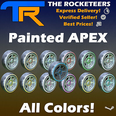 [PC STEAM] Rocket League Every painted APEX Limited Wheels RLCS Reward Drop Rare