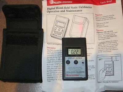 Digital Hand Held Static Fieldmeter with case and operation manual