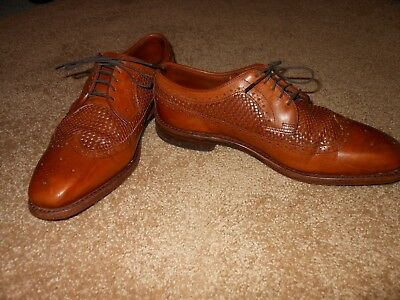 Allen Edmonds Boca Raton Long Wingtip Woven Leather 8E Dress Shoes