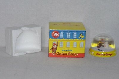 Curious George Snowman Snowglobe with Original Packaging