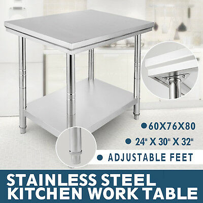 24 x 30 Stainless Steel Work Table Shelf Commercial Kitchen Restaurant New