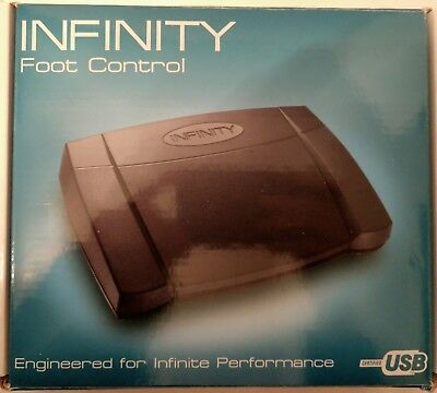 Infinity In-USB-2 Electronic Computer Digital Transcription Foot Control Pedal