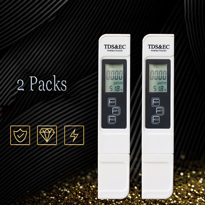 Residual Chlorine Tester Meter Water Total Dissolved Solids Measurement Pen 2PCS