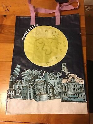 NWT TRADER JOE'S 2016 MOON Reusable Shopping Bags 6 Gallon Capacity