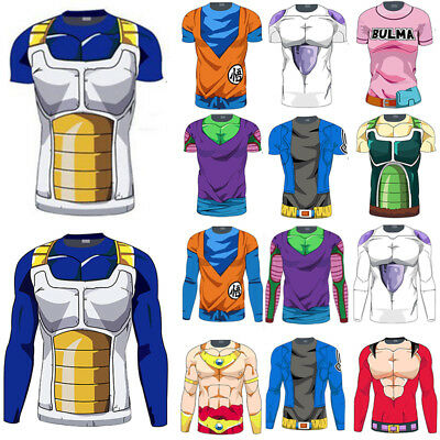 Mens Dragon Ball Z DBZ Compression Sports Running Fitness T-Shirt Jersey Tops Te