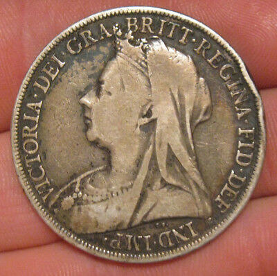 Great Britain - 1899 Large Silver Crown