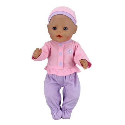 Purple Doll Clothes+hat Wearfor 43cm Baby Born zapf (only sell clothes )