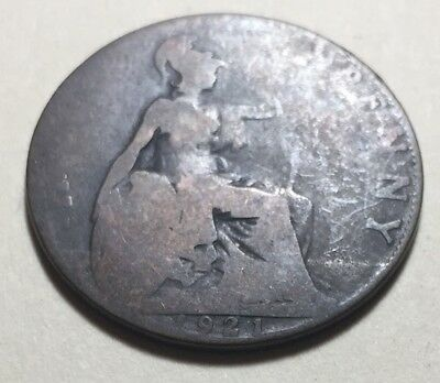 Great Britain (UK) 1921 Half Penny Coin - King George V