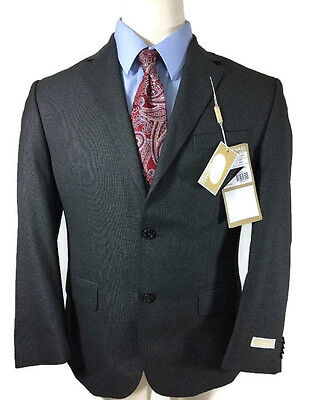 Michael Kors Suit Jacket Men's Size 44 Regular Charcoal Gray Blazer  New