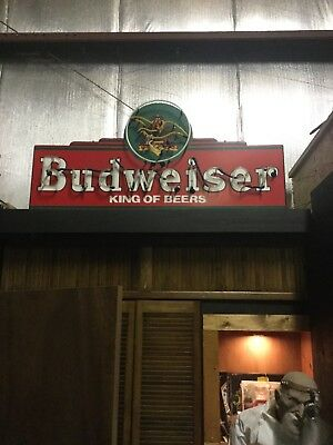 Rare!!!  Anheuser Busch Vintage Budweiser King of Beers Neon Light Sign