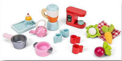 New Le Toy Van Tea-Time Kitchen Accessory Set Wooden Wood Toy Teatime Tea Time