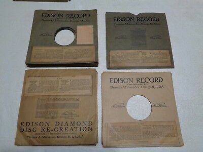 Lot Of 28 Edison Diamond Disc Record Sleeves - Numbers Listed