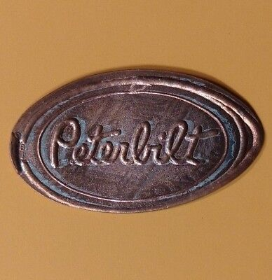 PETERBILT Semi Tractor Truck Wire Border Elongated Pressed Penny Coin
