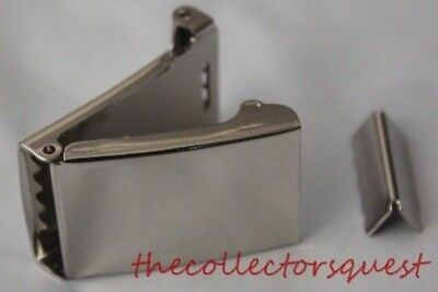 """NEW 1.5"""" WIDE FLIP TOP CHROME BELT BUCKLE ONLY with TIP Canvas Belts Replacement"""
