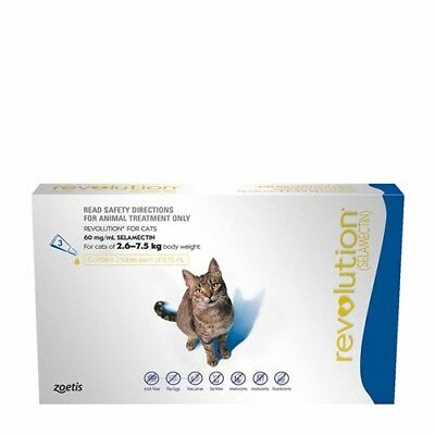 New Revolution for Cats 2.6-7.5kg Pack of 6