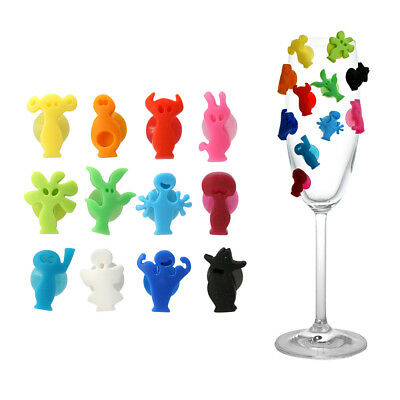 NEW Vacu Vin Party People Glass Markers Set 12pce