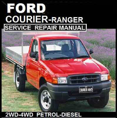 FORD COURIER - RANGER 1998-2006 PD-PE-PG Models  WORKSHOP MANUAL