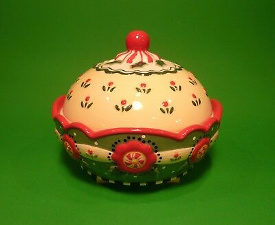 Retired Mary Engelbreit Maryment Covered Candy Dish 78150 Htf Free Shipping
