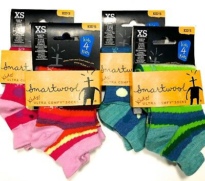 Smartwool Kids Girls Socks XS SPRINKLE STRIPE Ultra Comfy (lot 0f 4) -NEW