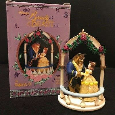 "Disney Beauty and the Beast ""Love's Sweet Dance"" Enesco Ornament in box vintage"