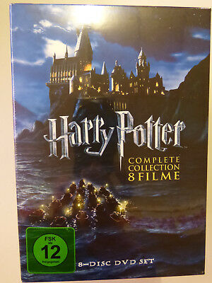 Harry Potter Complette Collection 8 DVD Komplettbox BOX 1 2 3 4 5 6 7.1  7.2 OVP