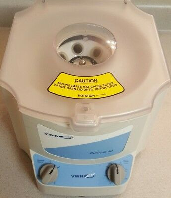 VWR Clinical 50 Centrifuge 82013-800 with Rotor- laboratory MINT CONDITION!!!